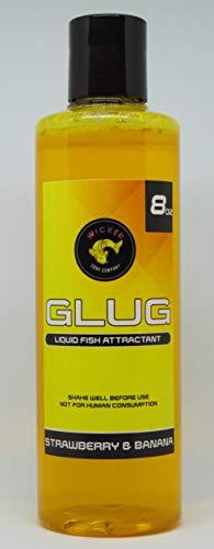 Wicked Carp Company 8 fl oz Strawberry & Banana Glug | Carp & Catfish Bait Enhancement | PVA Friendly Liquid Dip Bait & Attractant
