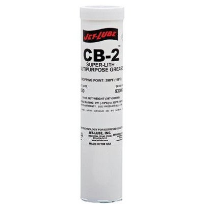 Jet-Lube CB-2 - All-purpose | Lithium Grease | High-Temperature | NLGI #2 | Water-resistant | Pumpable | All-weather product | Pack of 10