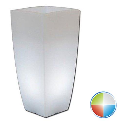 Tkm Vaso Agave Quadrato con LED Multicolor H70 33x33Cm