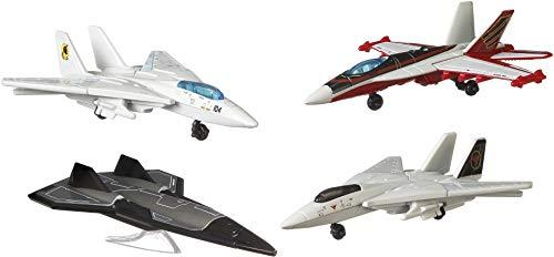 Matchbox Top Gun Pack de 4 Aviones de juguete (Mattel GPF72)