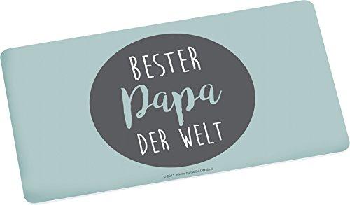 infinite by GEDA LABELS (INFKH) Brettchen Bester Papa der Welt Frühstücksbrett Melamin, Grau, 23,5 x 14 x 0.5 cm