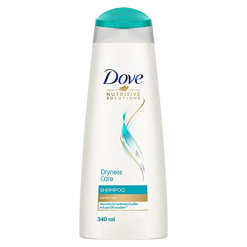 Dove Dryness Care Shampoo For Dry Hair, with Pro- Moisture Complex, Nourishes Hair And Makes It Softer and Smoother, 340 ml