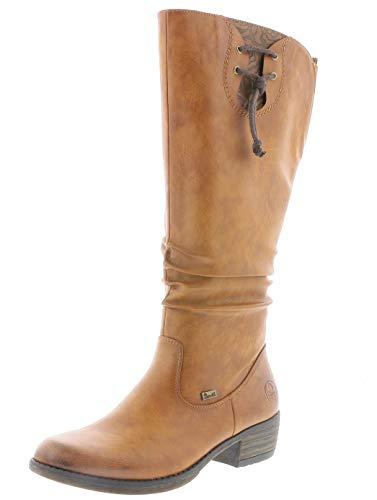 Rieker Damen Stiefel 93161, Frauen Stiefel,riekerTEX, Boots langschaftstiefel gefüttert reißverschluss Damen,Cayenne,36 EU / 3.5 UK