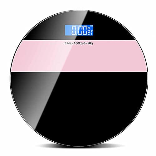 QASD Escalas, Escamas de baño, Pantalla de Alta definición LED Escala electrónica Escala de Peso Corporal Humano, USB Recargable Casa Escala de Grasa Corporal Inicio Black Powder