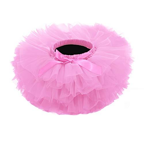Baby Girls Tutu Skirt, Infant Tulle Tutus, Newborn Soft Skirts for Toddlers Pink