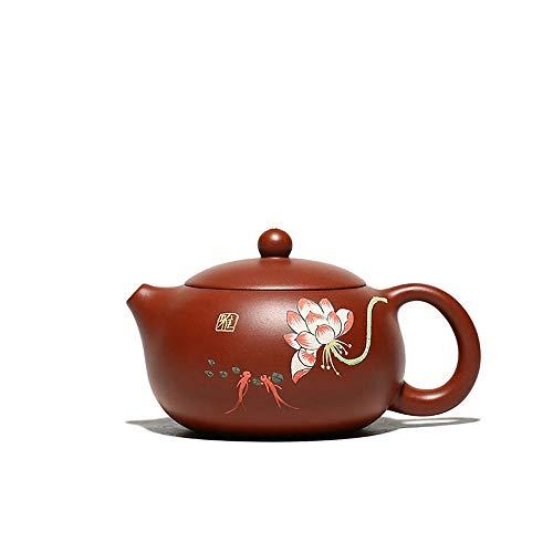 Wsliqrti Yixing handgemachte Zisha Teekanne Oriental Zisha Teekanne Ton Teekanne Heyun Kanne Teeservice-rot