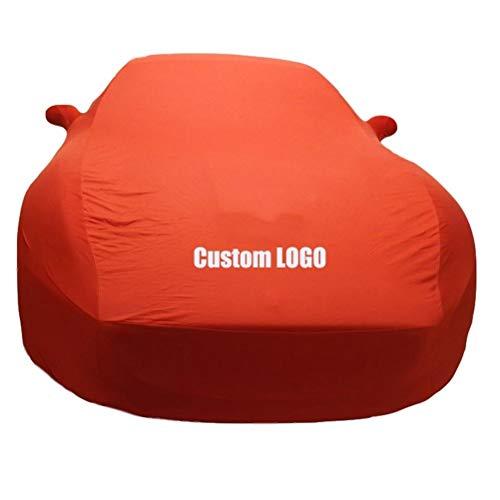 Indoor Speciale Auto Cover voor DODGE, Oranje Super Sports Auto Volledige Auto Cover (garage, Auto Show, Auto Dealer) Kan worden aangepast Auto LOGO Ram