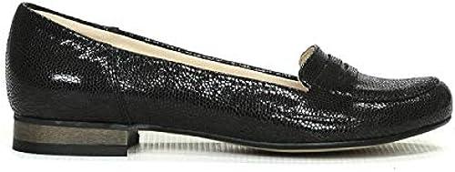 Damen Schuhe Schlappen Sommer schwarz Leder Janet D.