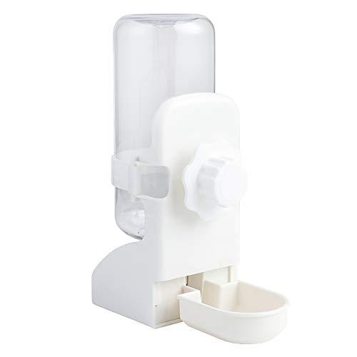 LeerKing Dispensador Agua Automático Rellenable para Mascotas Pequeña Bebedero Conejos Colgante Antigoteo para Hamster Cobaya Loro