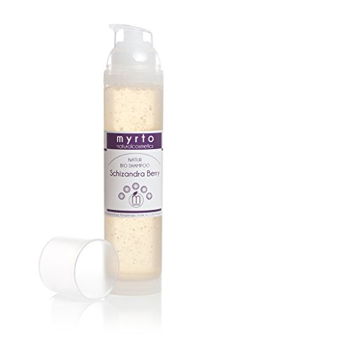 myrto – Bio Repair Shampoo mild | ohne Alkohol -gegen trockene, juckende + gereizte Kopfhaut - vorbeugend gegen Spliss - 100ml