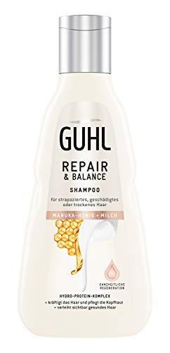 Guhl Repair & Balance Shampoo - mit Manuka-Honig und Milch - regeneriert ganzheitlich und kräftigt das Haar, 250 ml