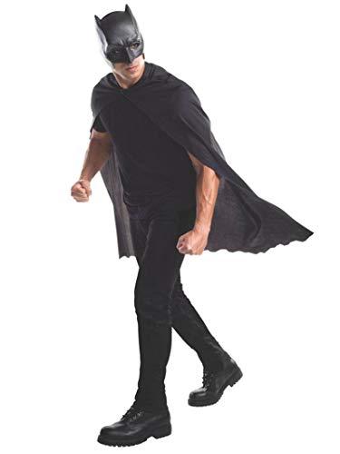 Rubie's Batman-Maske und Umhang für Erwachsene, offizielles Produkt, Einheitsgröße, Schwarz