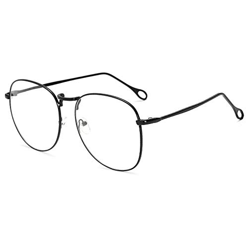 hqpaper Espejo plano de metal retro marco grande marco de gafas retro fino-Golden_Flat light