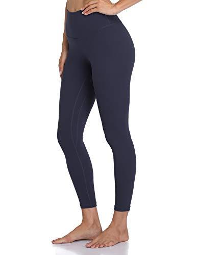 Colorfulkoala Women's High Waisted Leggings 7/8 Length Yoga Pants (XS, Navy)