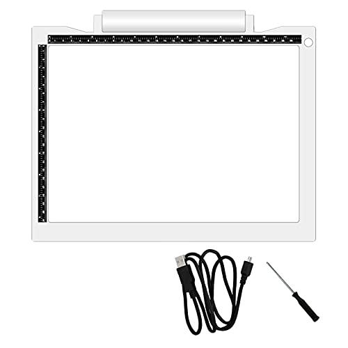 LHSJYG Drawing Tablet,Tavolette Grafiche Portable A4 Tracing Light Pad 3 Livelli Artcraft Copy Board Pad Tracer Dimmable Luminosità dimmerabile USB Scatola Luminosa alimentata per Il Disegno
