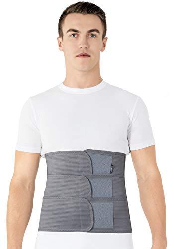 Cintura lombare di sostegno - Fascia Schiena Elastica Lombare - Cintura lombare terapeutica-Tutore Posteriore Lombare XX-Large Grigio