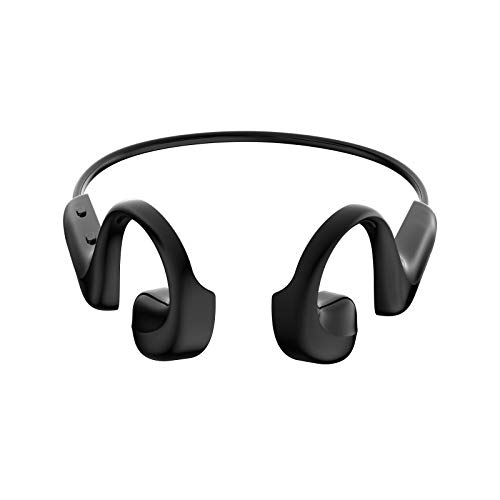 YMKT Air Open Ear Bone Conduction Headset Bluetooth 5.0 Wireless Headphone Handsfree Outdoor Sports Earbuds HD Voice Earphones for Running Cycling Driving Gym