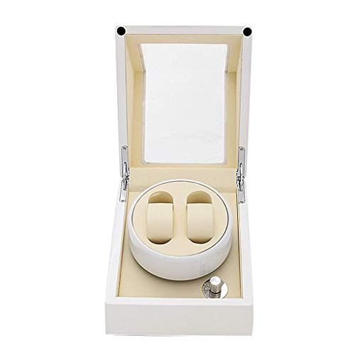 Piano Paint Double Watch Winder Luxury Display Box, Quiet Motor Antimagnetic Design,...