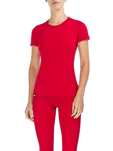 Rewoolution Skin, T-Shirt Donna, Ruby, XS