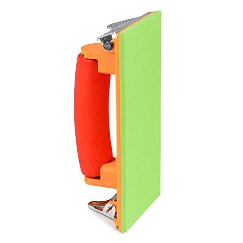 TIMESETL Handschleifer Schleifer Halter 185mm x 90mm DIY Hand Schleifer mit Handgriff und Spannvorrichtung