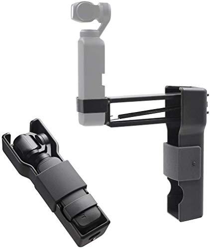 """iEago RC Handheld Anti-Shake-Vlog Z-Achsen Stoßdämpfer Stabilisator Handyhalter mit Universeller 1/4 \"""" Schraubschnittstelle Tragbarer Aufbewahrungskoffer Zubehör für DJI OSMO Pocket"""