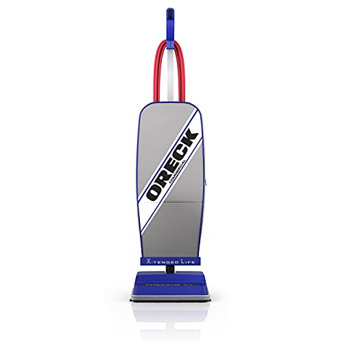 ORECK XL COMMERCIAL Upright Vacuum Cleaner, Bagged Professional Pro Grade, 9 Pounds 35-Foot Long Cord, XL2100RHS, Gray/Blue