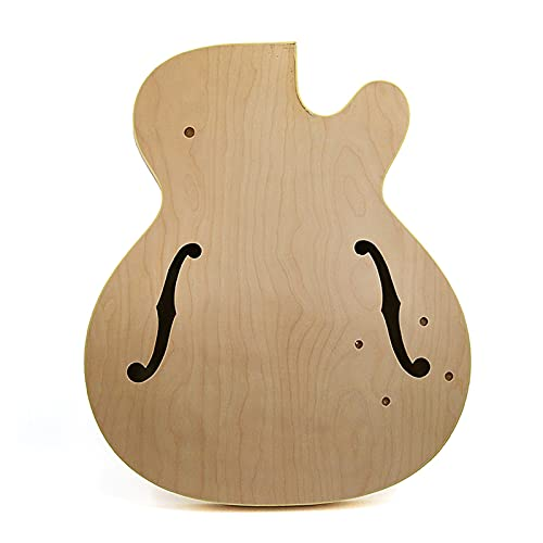 Cuerpo Guitarra Jazz Guitar Cuerpo Maple Control De Madera Contrachapada Panel Lateral De Madera Maciza Producción Compuesta Kits Guitarra Bricolaje