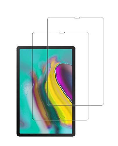 TECHKUN [Lot de 2 films de protection d'écran en verre trempé compatible avec Samsung Galaxy Tab S5e/S6 2019(T720/T725,) (SM-T860/SM-T865), [10,5 pouces]