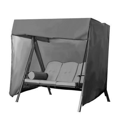 NINGWXQ Garden zwenkafdekking Garden Furniture Cover Waterdicht en stofdicht Hangmat Cover Swing Cover, 5 kleuren, 2 maten (Color : Gray, Size : 220x125x170cm)