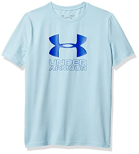 Under Armour Boys UA Big Logo Flow SURF Shirt, Blue Frost, YLG