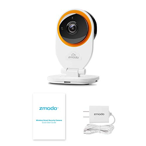 Zmodo EZCam Wireless Two-Way Audio Smart HD IP Home Security Camera with Night Vision, Works with Alexa