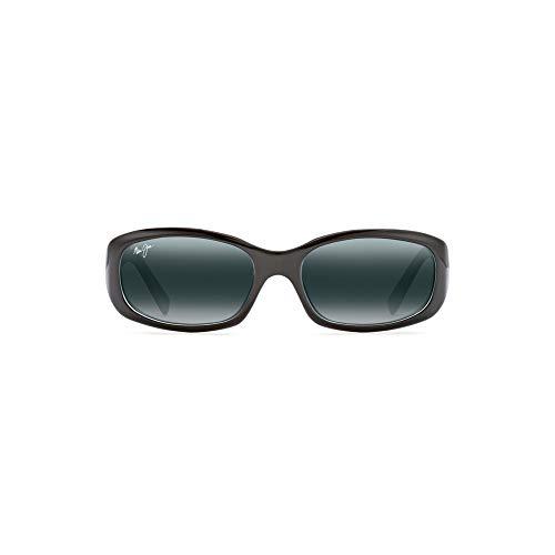 Maui Jim Women's Punchbowl w/ Patented PolarizedPlus2 Lenses Polarized Fashion Sunglasses, Black With Blue/Neutral Grey Polarized, Small