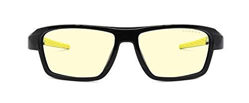 GUNNAR Spel- och datorglasögon | Lightning Bolt 360, ESL edition, bärnsten nyans | blåa ljusglasögon | patenterad lins, 65 % blått ljusskydd, 100 % UV-ljus | nästa generation Esports glasögon