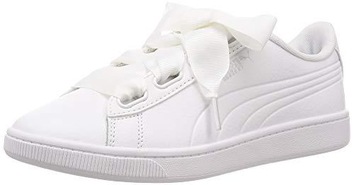 Puma Vikky v2 Ribbon Core, Damen Sneakers, Weiß (Puma White-Puma Silver), 41 EU