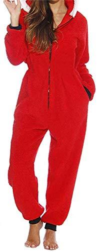 Huyghdfb Women 's Xmas Pajama Long Sleeve Jumpsuit Romper...