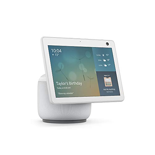 All-new Echo Show 10 (3rd generation) | HD smart display with motion and Alexa, Glacier White Fabric