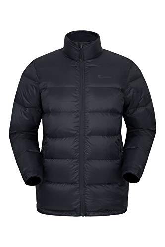 Mountain Warehouse Drift Daunenjacke für Herren - Warme, Winterjacke, Regenjacke, Herrenjacke - Ideal für Camping Schwarz XS