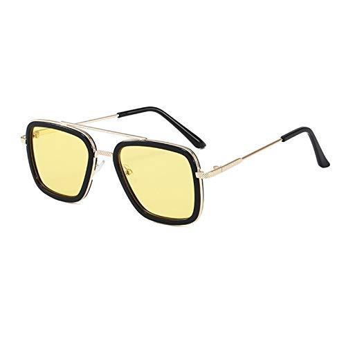 DIOXQEN Diseño clásico Hombre Hombre Tony Stark Pesca Gafas de Sol Plaza Pesca Al Aire Libre Pesca Gafas Hombres Araña Eyewear Deportes Gafas de Sol para Uso en Exteriores (Color : 07)