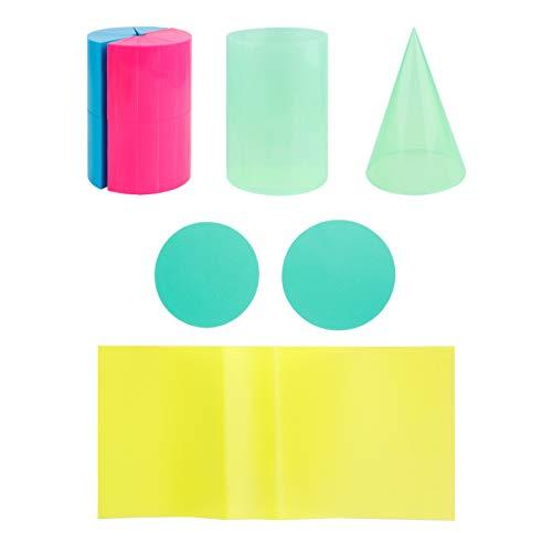 TOYANDONA Geometric Shapes Montessori Toys 3D Geometric Solids Preschool Learning Toys Math Manipulatives Geometry Set Blocks for Kids Measuring Volume