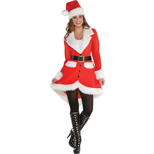 Amscan Elegant Santa Costume for Women, Christmas Costume, Small, with Included Accessories
