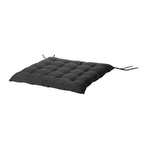 IKEA HALLO - Sitzkissen, Outdoor, schwarz - 50x50 cm