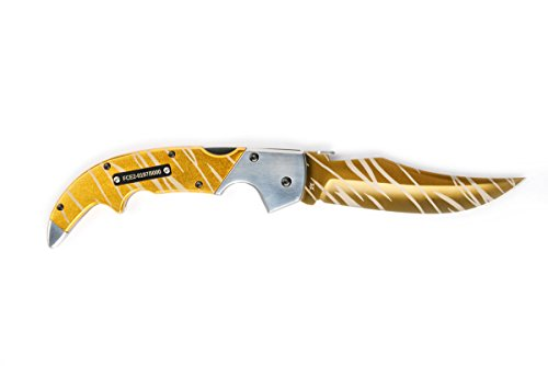 FADECASE Falchion Elite - Tiger Tooth - Echte Stahlmesser von Counter Strike Global Offensive mit Ihren bevorzugten Skins in CSGO