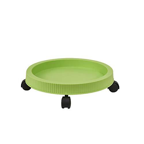 ayaso Macetas pequeñas redondas de plástico para interior, para oficina, balcón, barandilla, incluye para patatas, flores, plantas, verduras