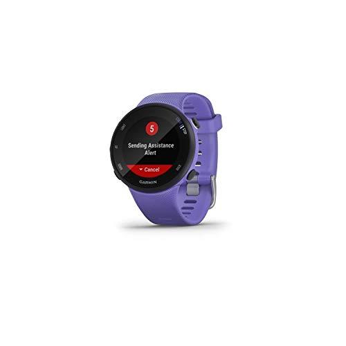 Garmin Forerunner 45S/P Reloj Multisport, Adulto, Unisex, Lila azulado (Iris), S