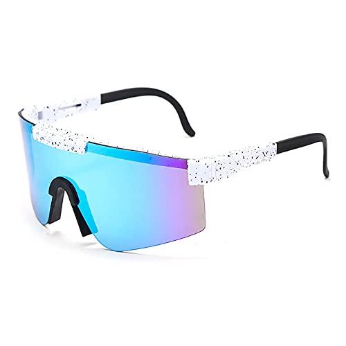 Gafas De Sol Gafas De Ciclismo Al Aire Libre Gafas De Protección UV400 Unisex Al Aire Libre A Prueba De Viento Ciclismo Pesca Golf Gafas,C6