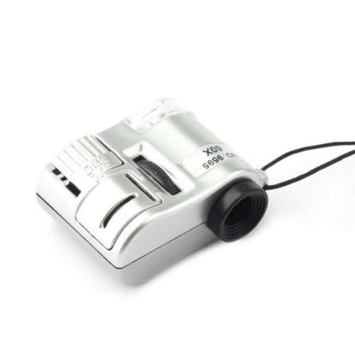 Mini microscopio tascabile con zoom ottico x60 lente cellulare compatto