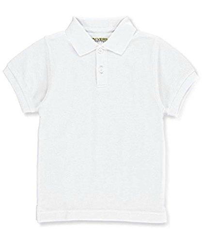 Unisex Short Sleeve Pique Polo Shirt - White, 12