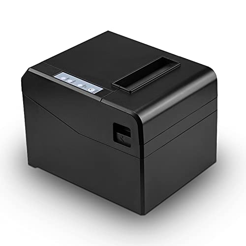 Impresora térmica con puerto USB/Puerto Ethernet,cortador depapel automático de300mm/s Impresora de recibos térmicos dealta velocidad,ventanas de soporte,adecuado para restaurantes/centros comerciales