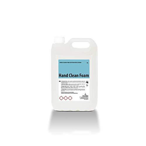 Jabón de manos para dosificador de espuma HCF garrafa de 5 Litros. Apto uso en hogares, restaurantes, cafeterías, hoteles, residencias, hospitales, albergues, hoteles o gimnasios.