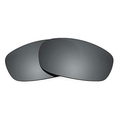 Revant Verres de Rechange pour Oakley Square Wire 2.0, Polarisés, Chromé Noir MirrorShield